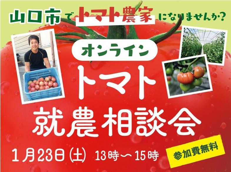 「トマト」栽培に興味のある方必見!オンラインセミナーを開催します!【農業経験不問】