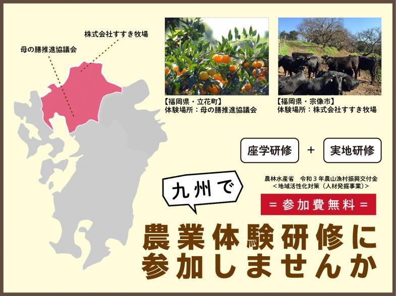九州で農業をしながら暮らしたい方へ!ムラ暮らしインターン参加者募集中!